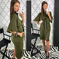 560083969e0 Платье рубашка стильная на пуговицах с широким поясом разные цвета  Smld2957. В наличии