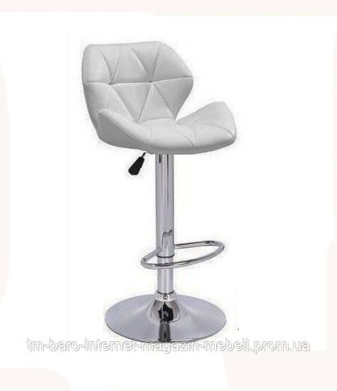 Барний стілець Старлайн, кожзам білий