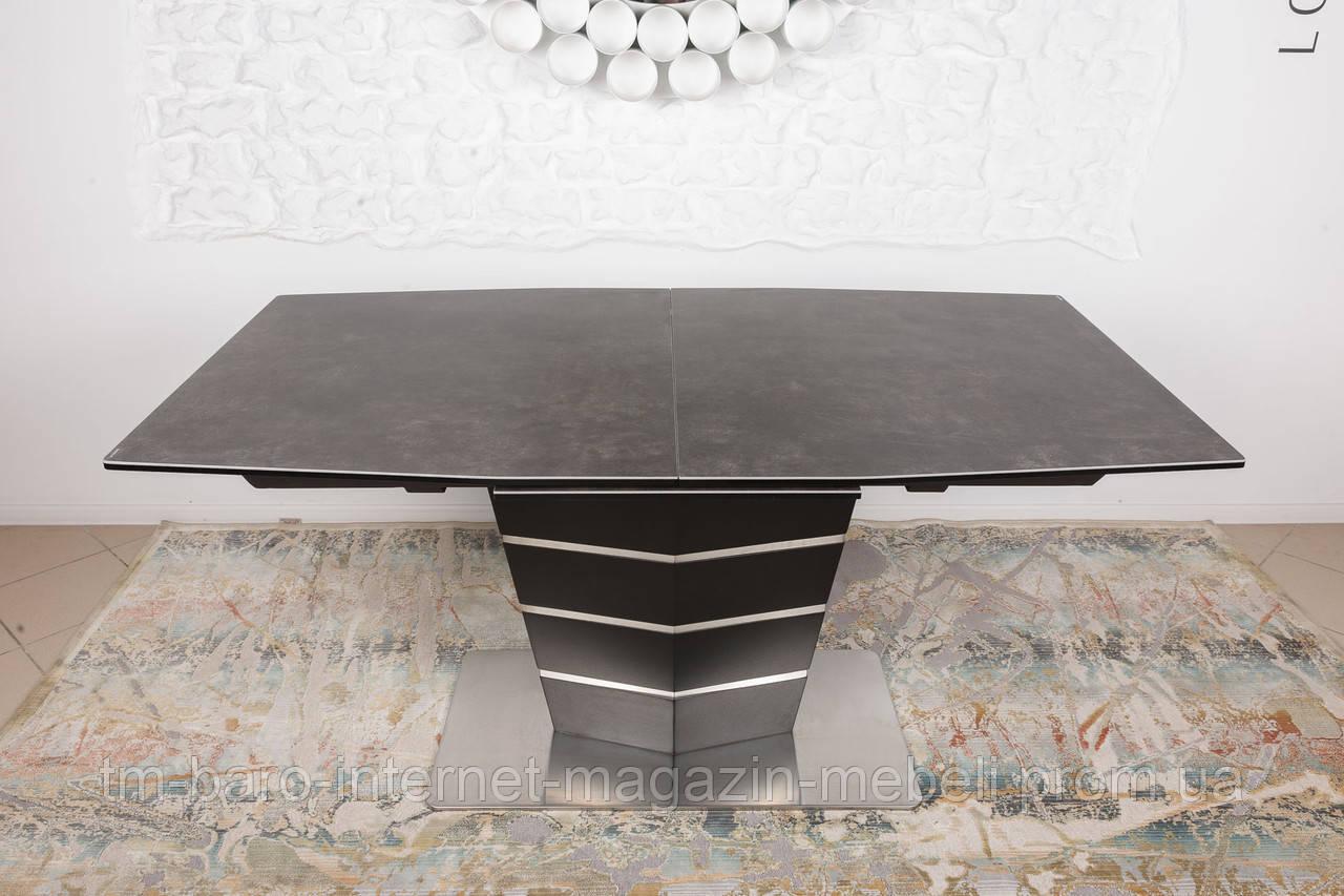 Стол обеденный BALTIMORE (160+50)*90*76) керамика коричневый, Nicolas
