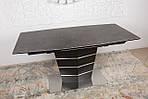 Стол обеденный BALTIMORE (160+50)*90*76) керамика коричневый, Nicolas, фото 3