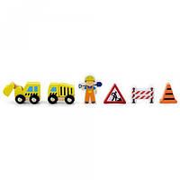 Viga Toys Игровой набор Viga Toys Дополнительный набор к ж/д Строители (50813)