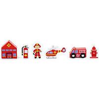 Viga Toys Игровой набор Viga Toys Дополнительный набор к ж/д Пожарная станция (50815)
