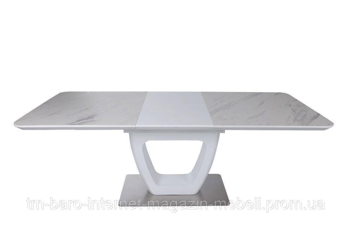 Стол Toronto New (Торонто Нью) керамика белый мат 210 (Бесплатная доставка), Nicolas