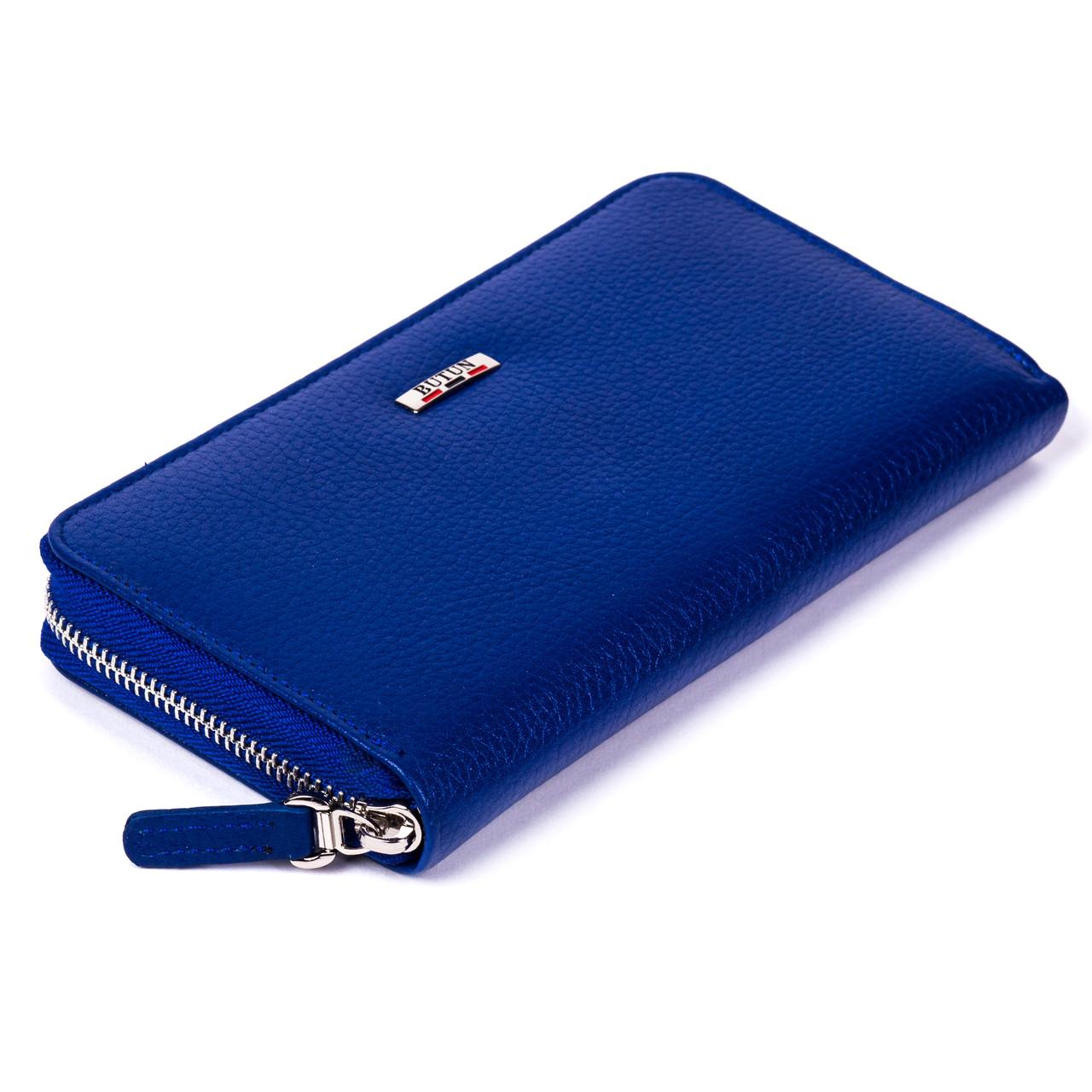 Женский кошелек Butun 639-004-013 кожаный синий