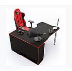 Геймерский стол IGROK-TOR, черный/красный, ZEUS™, фото 2