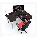 Геймерский стол IGROK-TOR, черный/красный, ZEUS™, фото 3