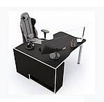 Геймерский стол IGROK-TOR, черный/белый, ZEUS™, фото 2