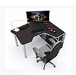 Геймерский стол IGROK-TOR, черный/белый, ZEUS™, фото 3