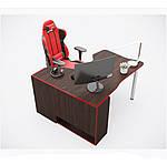 Геймерский стол IGROK-TOR, орех/красный, ZEUS™, фото 2