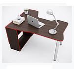 Геймерский стол IGROK-TOR, орех/красный, ZEUS™, фото 3