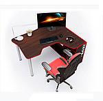 Геймерский стол IGROK-TOR, орех/красный, ZEUS™, фото 4
