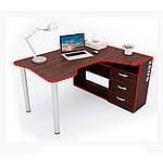 Геймерский стол IGROK-TOR, орех/красный, ZEUS™, фото 5