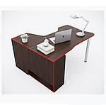 Геймерский стол IGROK-TOR, орех/красный, ZEUS™, фото 6