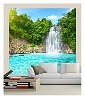 """3D фотошпалери """"Водоспад і озеро в горах"""""""