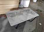 Стол журнальный Luton R (Лутон) 125х70, керамика светло-серый глянец (Бесплатная доставка), Nicolas, фото 2