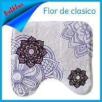 Коврик в туалет антискользящий хлопковый 45х45 см Bathlux Flor de clasico 10182