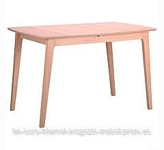 Стол обеденный раздвижной Конте, бук беленый