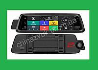 "Зеркало регистратор Е05 10"" сенсор, 2 камеры, GPS навигатор, WiFi, 16Gb, Android"