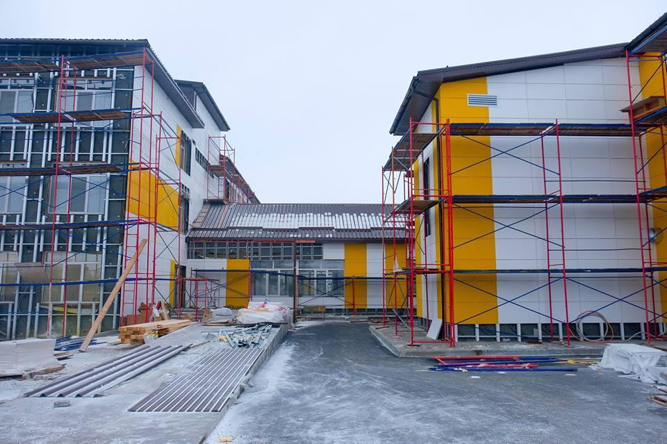 Магдалиновская опорная школа: Монтаж вентсистемы с приминением фиброцементных плит. 3