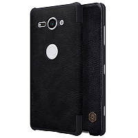 Кожаный Чехол на мобильный  (книжка) Nillkin Qin Series для Sony Xperia XZ2 Compact