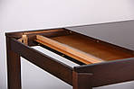 Стол раздвижной Милтон 1200(1660)х800х740 орех темный, фото 9