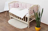 Набор детского текстиля в кроватку (бортики, простынь на резинке, плед с утеплителем, подушка)