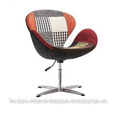 Кресло Сван пэчворк, металл, ткань