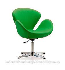 Кресло Сван зеленый, металл, ткань