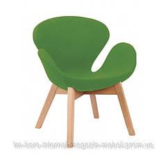 Кресло Сван Вуд Армз зеленый, бук, ткань