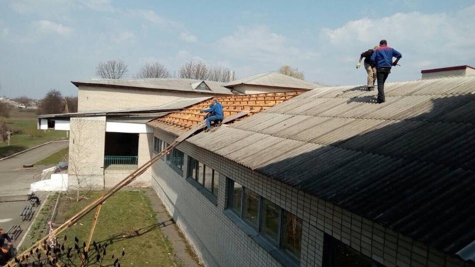 Магдалиновская опорная школа: Монтаж вентсистемы с приминением фиброцементных плит. 14