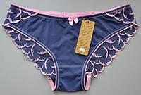 Трусики слипы, синие с вышивкой Annajolly 8101