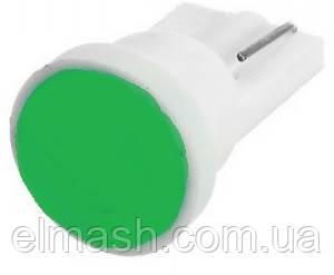 Лампа LED 12V T10 (W5W) COB 1W ЗЕЛЕНЫЙ