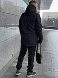 Парка  мужская  зимняя  черная  Nike Найк (реплика), фото 3