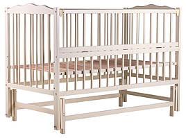 Ліжко Babyroom Веселка маятник, відкидний пліч DVMO-2 бук слонова кістка