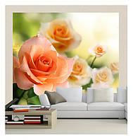 3D фотообои, цветы «Весенние розы», бумага, винил, флизелин