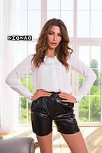 Стильные женские шорты эко кожа 42-46р