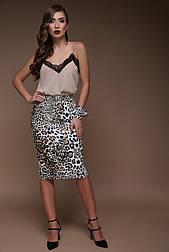 Леопард юбка Алина