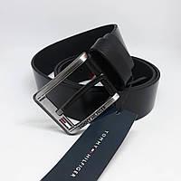 Promo. 540 грн. Оптовые цены. В наличии. Мужской черный кожаный ремень  Tommy Hilfiger чоловічий ремінь шкіряний чорний пояс 256d4e014611a