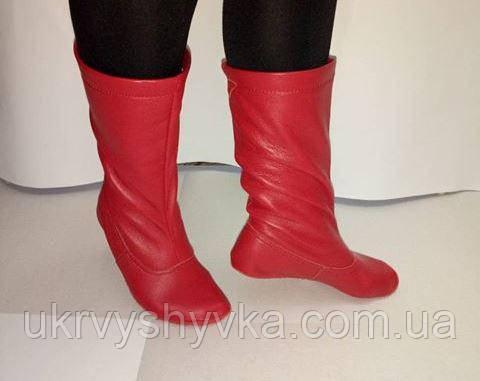 Чоботи народні червоні дитячі шкіряні  жіночі вишиванки d18d5ad17ad97
