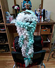 ⚪️ Белый канекалон коса для плетения причесок девочкам ⚪️ , фото 5