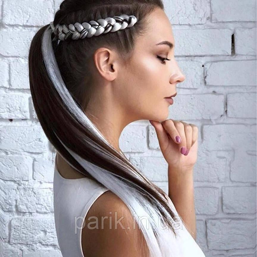 ⚪️ Белый канекалон коса для плетения причесок девочкам ⚪️