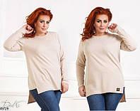 bb3031b194a15 Повседневная женская демисезонная туника больших размеров 42-56 размеров  Турция, 5 цветов