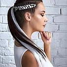 ⚪️ Канекалон для кос, белые цветные пряди волос ⚪️ , фото 2
