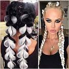 ⚪️ Канекалон для кос, белые цветные пряди волос ⚪️ , фото 4