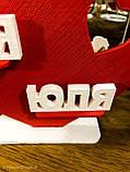 Подарунок на день закоханих   Серце з іменами закоханих   Індивідуальний подарунок до дня Святого Валентина, фото 5