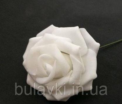 Роза на ножке белая 5 см