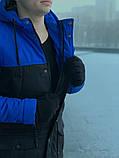 Парка мужская зимняя сине - черная Nike Найк (реплика), фото 5