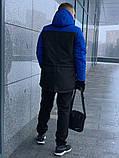 Парка мужская зимняя сине - черная Nike Найк (реплика), фото 3