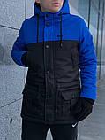 Парка мужская зимняя сине - черная Nike Найк (реплика), фото 2