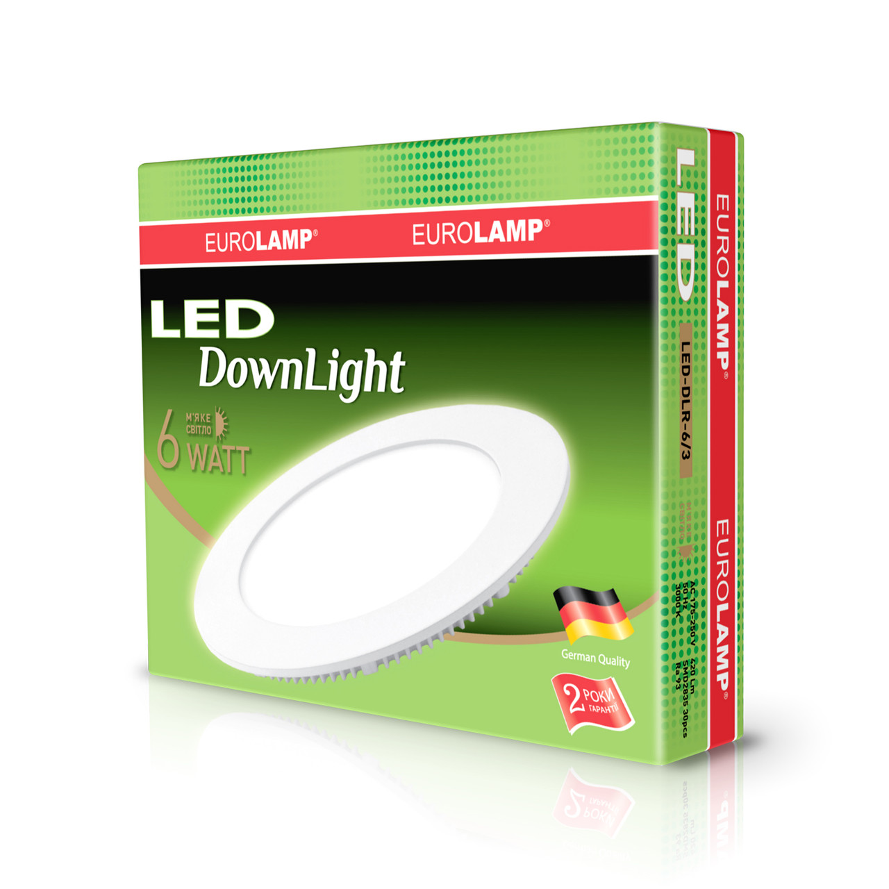 EUROLAMP LED Светильник круглый Downlight 6W 3000K 220V